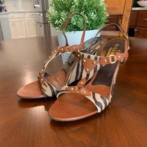 Valentino Garavsni Calf Hair Sandals